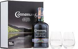 Connemara Distillers Edition s 2 pohármi 43% 0,7l
