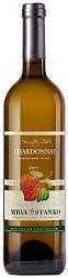 Mrva & Stanko Chardonnay, neskorý zber, biele suché 2017, Čachtice 13% 0,75l