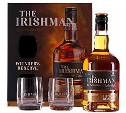 The Irishman Founder's Reserve s 2 pohármi 40% 0,7l